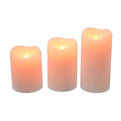 Fantastic Craft 3 Piece Candle Set with Remote Color: Red
