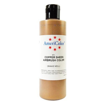 Americolor Amerimist Copper Sheen Pearl 9 Ounce Airbrush Food Color