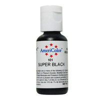 AmeriColor Soft Gel Paste SUPER BLACK .75oz Cake Decorating Food Color