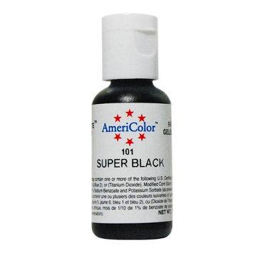 AmeriColor Soft Gel Paste SUPER BLACK .75oz Cake Decorating Food Color