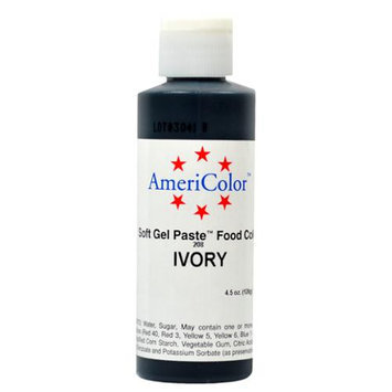 AmeriColor Soft Gel Paste IVORY 4.5oz Cake Decorating Food Color