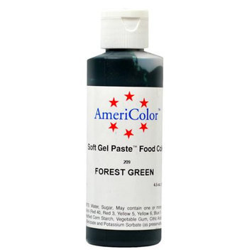 AmeriColor Soft Gel Paste FOREST GREEN 4.5oz Cake Decorating Food Color