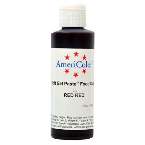 AmeriColor RED RED SOFT GEL PASTE Cake Food Color 4.5 z
