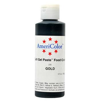 AmeriColor Soft Gel Paste GOLD 4.5oz Cake Decorating Food Color