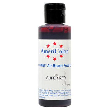 AmeriColor SUPER RED Cake Decorating Airbrush Color 4.5
