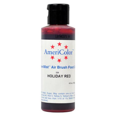 AmeriColor AmeriMist HOLIDAY RED 4.5oz Airbrush Cake Decorating Color