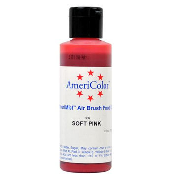 AmeriColor SOFT PINK Cake Decorating Airbrush Color 4.5