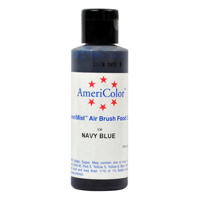 AmeriColor AmeriMist NAVY 4.5oz Airbrush Cake Decorating Color