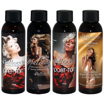 Turbo Tan Belloccio 5 SOLUTION VARIETY KIT Sunless Airbrush DHA Spray Tanning Pre Post Tan