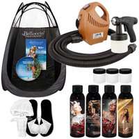 Belloccio DELUXE Sunless Airbrush HVLP SPRAY TANNING SYSTEM Solution Kit Tent