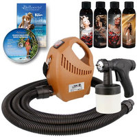 Belloccio DELUXE Sunless Airbrush HVLP SPRAY TANNING SYSTEM Solution Lotion Kit