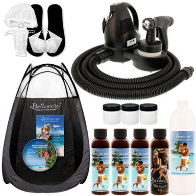 Turbo Tan Complete Sunless Airbrush HVLP SPRAY TANNING SYSTEM Ocean 8.5% DHA Solution TENT
