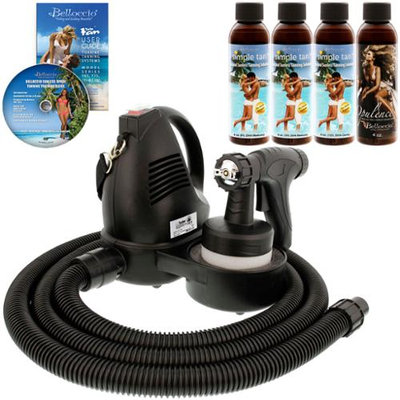 TURBO TAN KIT Sunless Airbrush HVLP SPRAY TANNING SYSTEM 4 Ocean DHA Solutions