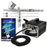 Master Airbrush Brand Model G233 * 3 Tip & Needle PRO SET Airbrushing System with Model TC-31 Compact Professional Air