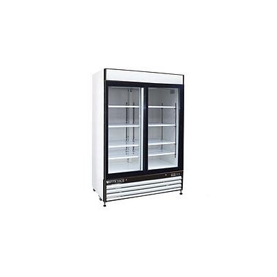 Maxx Cold Refrigeration and Ice Machines and Accessories X-Series 48 cu. ft. Double Sliding Door Merchandiser Refrigerator in White MXM2-48RS