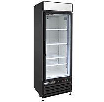 Maxx Cold Refrigeration and Ice Machines and Accessories X-Series 23 cu. ft. Single Door Merchandiser Refrigerator in Black MXM1-23RB