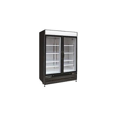 Maxx Cold X-Series 48-cu ft Commercial Freezerless Refrigerator (Black/Glass) ENERGY STAR MXM2-48RB