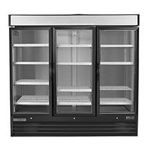Maxx Cold Refrigeration and Ice Machines and Accessories X-Series 72 cu. ft. Triple Door Upright Merchandiser Freezer in Black MXM3-72FB