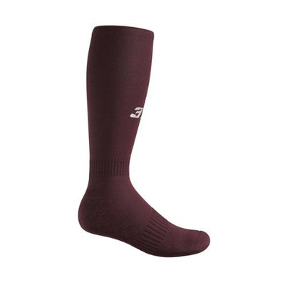 3N2 4200-11-M Full Length Socks - Maroon Medium
