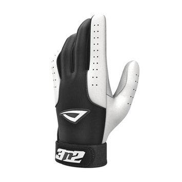 3N2 Sports 3N2 Sheepskin Leather Pro Batting Gloves 1 Pair Small Black/White Small/Black White