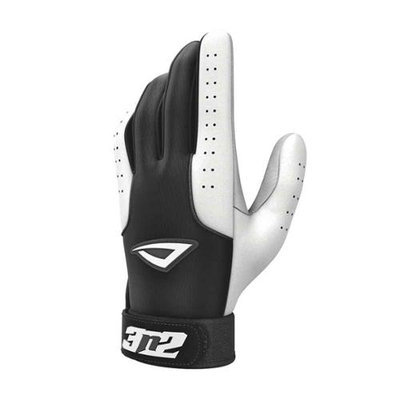 3N2 Sports 3N2 Sheepskin Leather Pro Batting Gloves 1 Pair Medium Black/White Medium/Black White