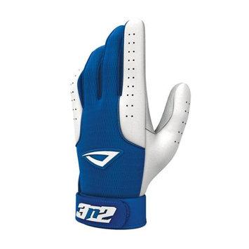 3N2 Sports 3N2 Sheepskin Leather Pro Batting Gloves 1 Pair Small Royal/White Small/Royal White