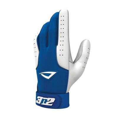 3N2 Sports 3N2 Sheepskin Leather Pro Batting Gloves 1 Pair Small Royal/White Small/Royal White