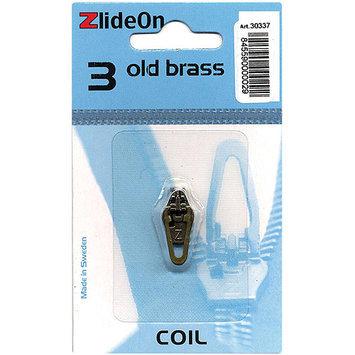 Fix-a-zipper ZlideOn Zipper Pull Replacements Coil 3-Old Brass