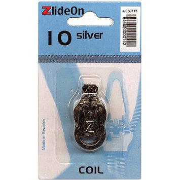 Fix-a-zipper ZlideOn Zipper Pull Replacements Coil 10-Silver