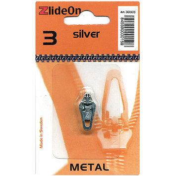 Fix-A-Zipper 3030-3 ZlideOn Zipper Pull Replacements Metal 3-Silver