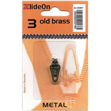 Fix-A-Zipper 3030-7 ZlideOn Zipper Pull Replacements Metal 3-Old Brass
