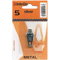 Fix-A-Zipper 3051-3 ZlideOn Zipper Pull Replacements Metal 5-Silver