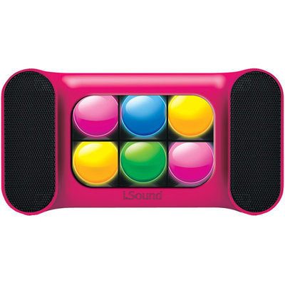 Dreamgear iGlowSound Mini Speaker - Pink (Includes Charge Cable & Audio Cable)