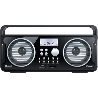 Isound Isound-6262 Rechargeable Bt4000 Bluetooth(R) Boom Box (Black)
