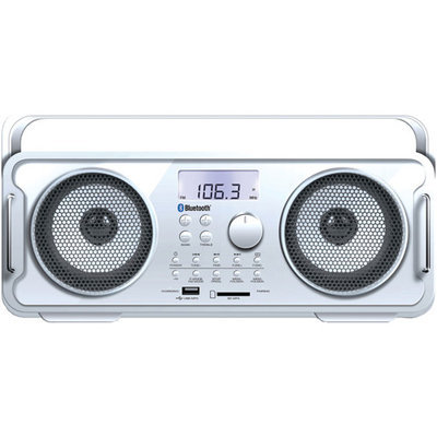 Isound Isound-6263 Rechargeable Bt4000 Bluetooth(R) Boom Box (White)