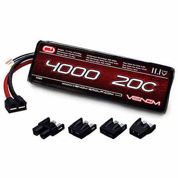Venom Group International Venom 20C 3S 4000mAh 11.1V LiPO Battery with Universal Plug System