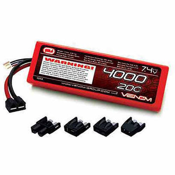 Venom Group International Venom 20C 2S 4000mAh 7.4V Hard Case LiPO Battery with Universal Plug System