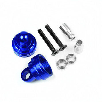 Atomik Rc Alloy Ultra Shock Caps for Traxxas Ford Raptor F150, 1:10, Blue