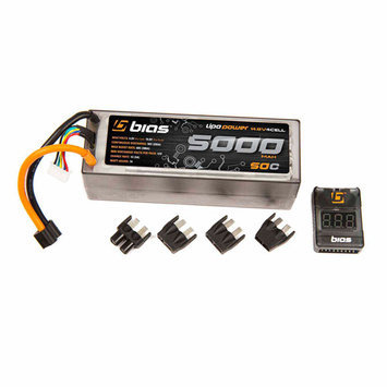 Bias 50C 4S 5000mAh 14.8V LiPO Battery Hard Case with Uni Plug