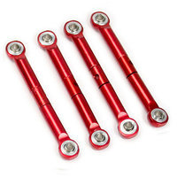 Atomik Rc Alloy Front/Rear Push Rod for Traxxas Boss 302 Ford Mustang 1:16 - Red