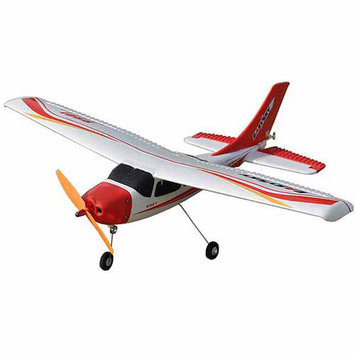 Easysky Cessna 182 555mm Micro 2.4GHz 4-Channel PNP EPO Mini RC Airplane, White/Red