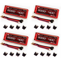 Venom 40C 2S 5000mAh 7.4 Hard Case LiPO Battery ROAR with UNI Plug x4 Packs