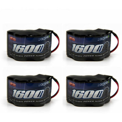 Venom 6v 1600mAh 5-Cell Hump Receiver NiMH Battery x4 Packs