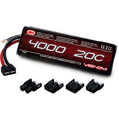 Venom LiPO Battery for Traxxas Slash 1:10 20C 11.1 4000mAh 3S with UNI Plug