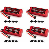 Venom 35C 3S 5000mAh 11.1 LiPO Hardcase Battery with Universal Plug x4 Packs