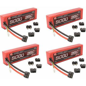 Venom 35C 3S 11.1V 5000mAh LiPO Hardcase Flat Pack Battery w/ UNI Plug x4 Packs