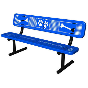 Barkpark Ultra Play Outdoor Benches. Green Paws Dog Park Commercial Bench