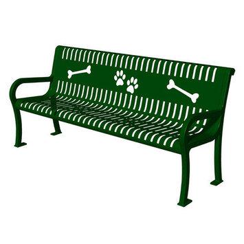 Barkpark Ultra Play Outdoor Benches. Lexington Series Blue Paws Commercial Bench
