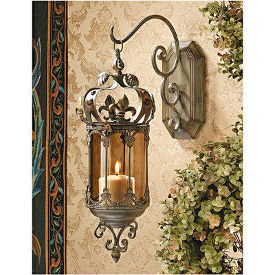 Design Toscano MH71201 Crown Royale Hanging Wall Sconce