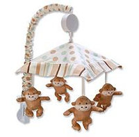 Trend Lab Morgan the Monkey Musical Crib Mobile